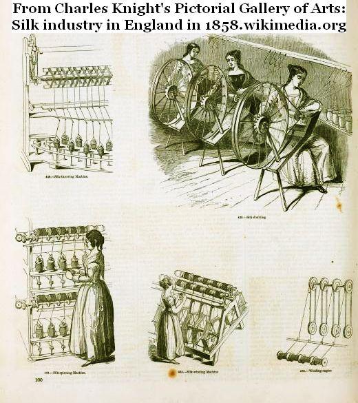 silk processing in England