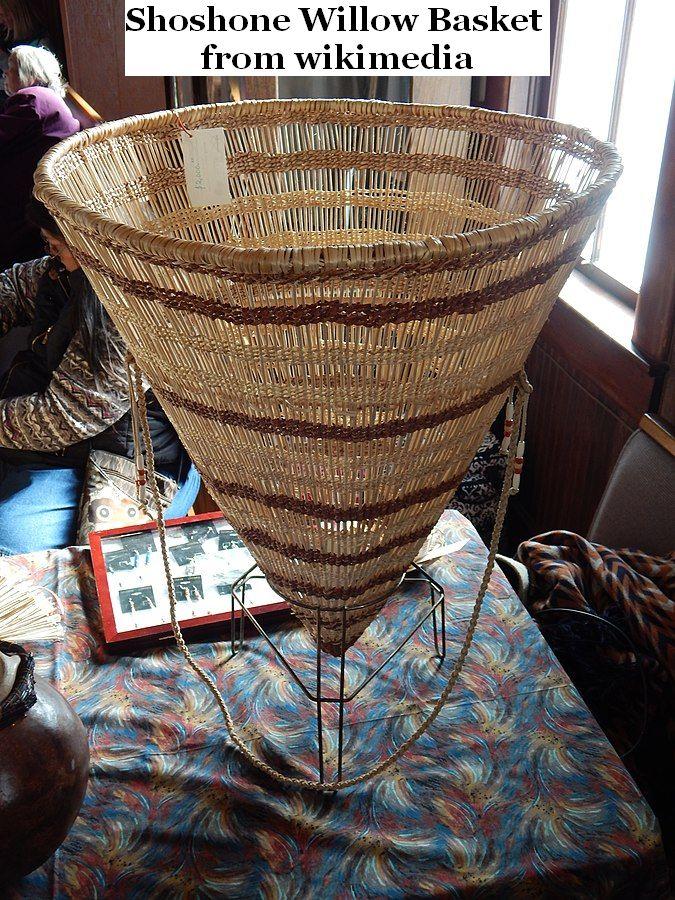 Shoshone willow basket